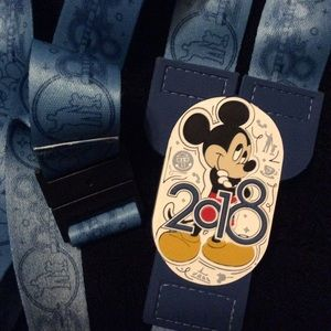 Disney Accessories - Disney 2018 Mickey Reversible Lanyard